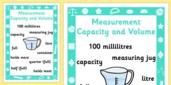 the key to time volume 1 key stage 1 measurement capacity and volume poster measure