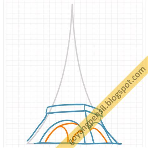cara membuat kerajinan tangan menara eiffel cara menggambar sketsa menara eiffel goyang pensil
