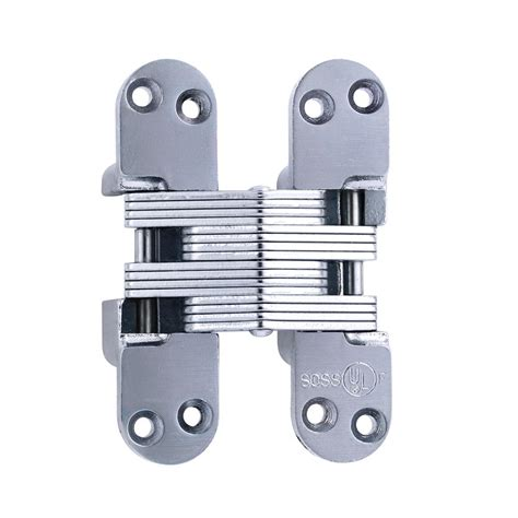 soss invisible hinge installation soss 1 1 8 in x 4 39 64 in satin chrome invisible hinge