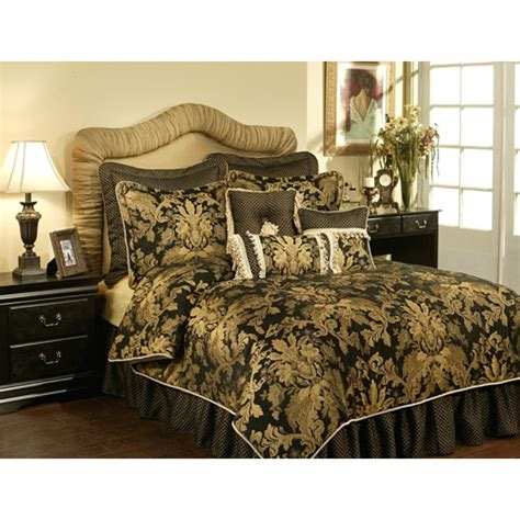 Oversized Duvet Covers Queen Black And Gold Comforter Set Bellacor Black And Gold