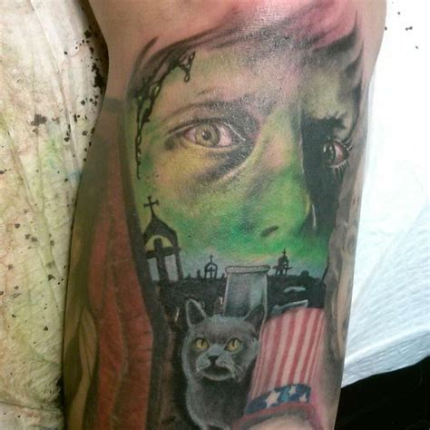 awesome quot pet cemetery quot tattoo by cliff gustafson fargo nd
