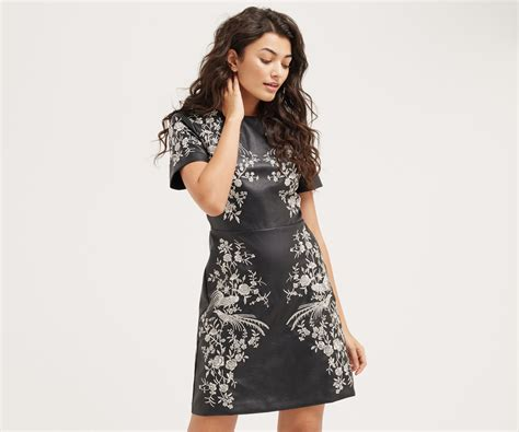 Oasis Do A Serpent Dress by Faux Leather Embroidered Dress Oasis