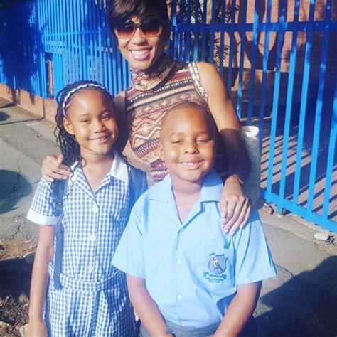 kgomotso christopher and husband newhairstylesformen2014 com celebs share sweet back to school pics zalebs