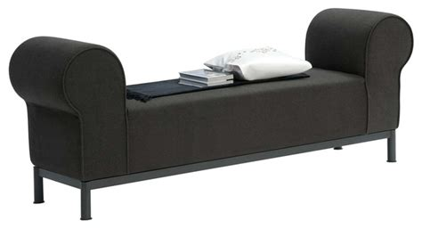 upholstered bench with rolled arms regent rolled arm fabric bedroom bench contemporary