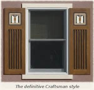 Craftsman Style House Interior mission style shutters