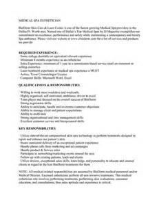 Esthetician Cover Letter Sle by Esthetician Resume Sle Http Www Jobresume