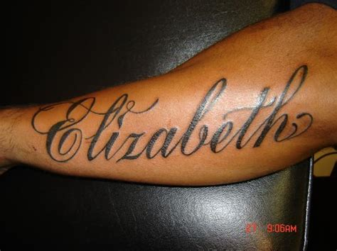 tattoo name ideas on arm elizabeth tattoo name on arm tattoomagz
