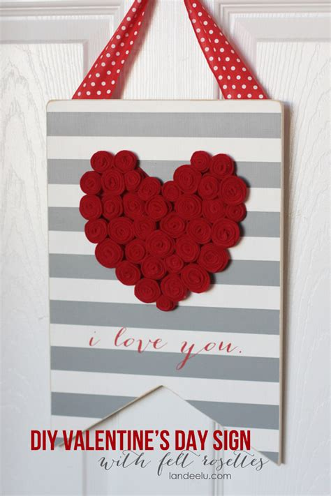 valentine decorations to make at home diy valentine s day sign landeelu com