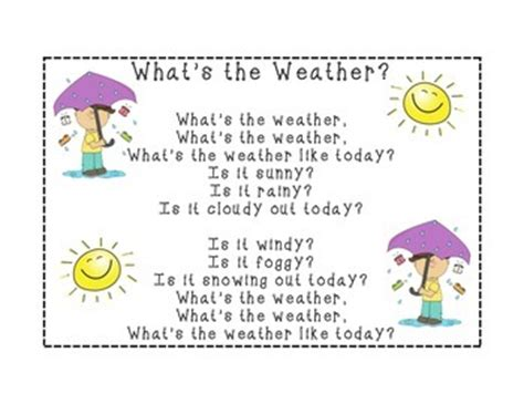 what is a s temperature what s the weather song by primary grade sweeties tpt