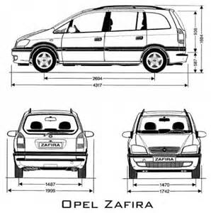 Dimensions Of Vauxhall Zafira The Gallery For Gt Opel Zafira Interior Dimensions