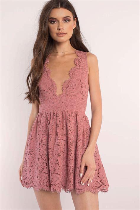 Lawren Dress skater dress scalloped dress terracotta lace