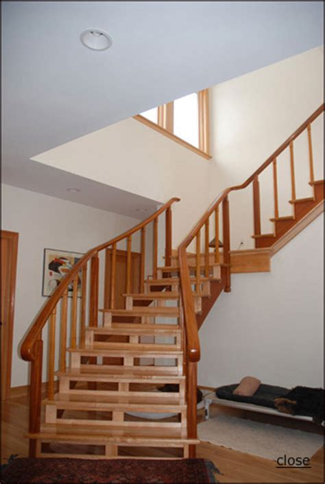 Free Standing Stairs Design Partly Free Standing Staircase