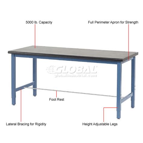 lab bench height laboratory work bench adjustable height 72 quot w x 36 quot d