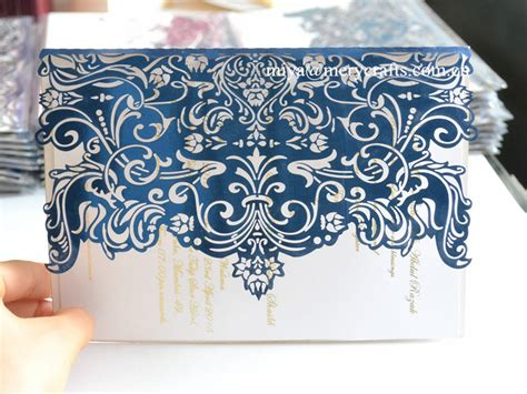 Blue Wedding Invitation Paper by Paper Invitation Mariage Royal Blue Wedding