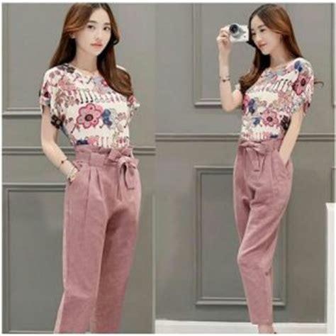Baju Wanita Setelan Pjms Tidur Pink Murah Fashion Wanita Terbar setelan baju celana pink cantik murah modis ryn fashion