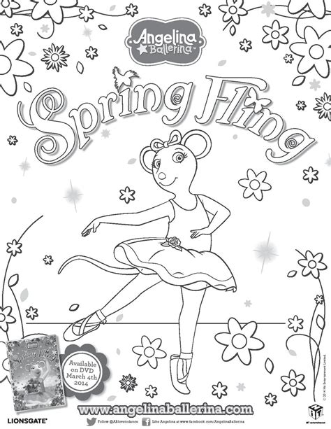 angelina ballerina coloring pages to print angelina ballerina spring fling angelina ballerina and