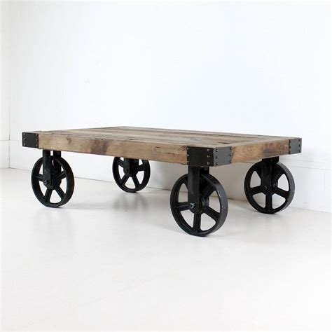 Wheeled Coffee Table By Out There Interiors Wheeled Coffee Table