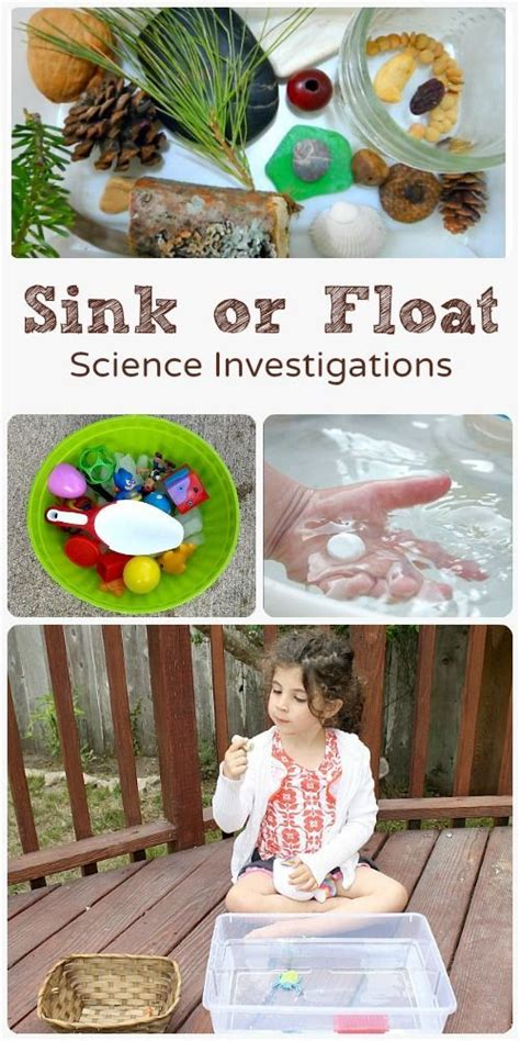 preschool science sink or float no time for flash pinterest the world s catalog of ideas