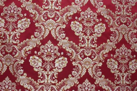 red floral upholstery fabric 7 yards red floral brocade gold medallion upholstery