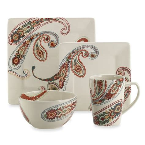 paisley bed set paisley 4 dinnerware set bed bath beyond table
