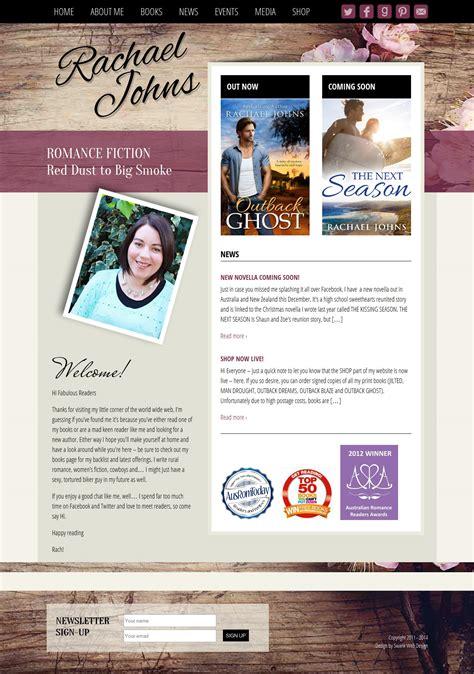 website design  author rachael johns swank web design