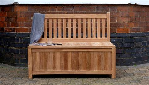teak garden storage bench teak storage bench 120cm windsor teak garden storage