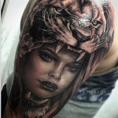 girl lion tattoos www imgkid the image kid