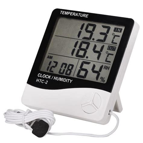 Alat Hygrometer Digital Temperatur Clock Humifidity Htc 2 Termurah htc 2 indoor room digital thermometer hygrometer electronic humidity temperature meter clock
