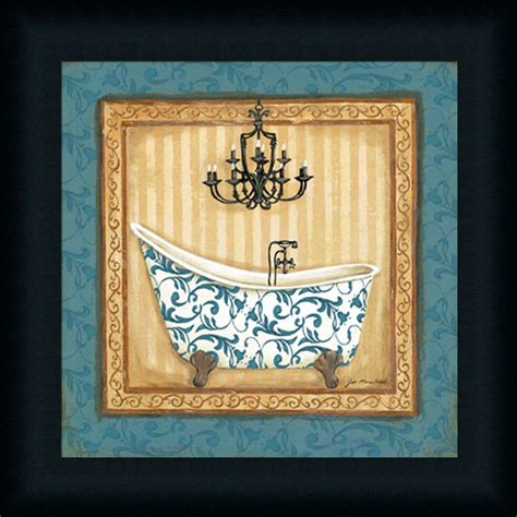 bathroom framed wall art blue slipper bath i bathroom d 233 cor paris chic framed art