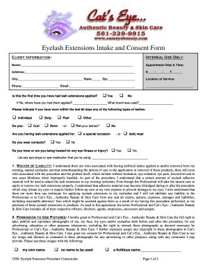 Consultation And Consent Male Models Picture Eyelash Extension Consultation Form Template
