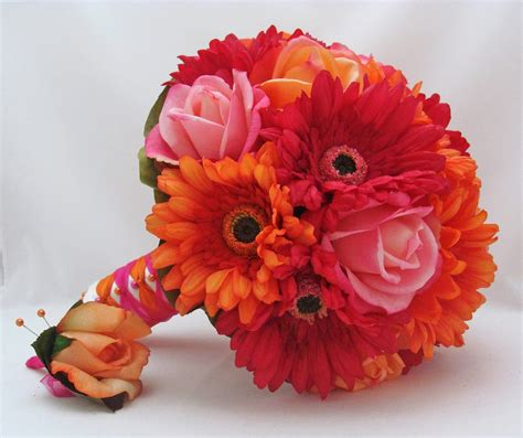 Wedding Bouquet Of Daisies by Beautiful Bridal Gerbera Wedding Bouquets