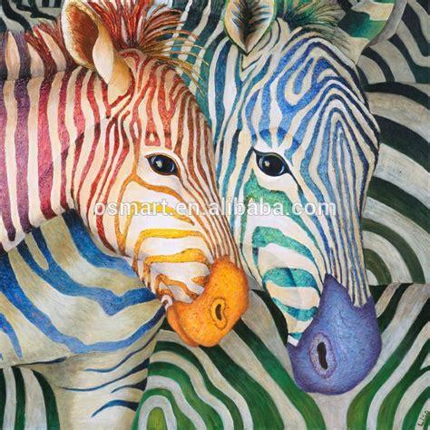 brillante de color cebra animales hermosos cuadros pinturas al 243 leo famosas pinturas al 243 leo de