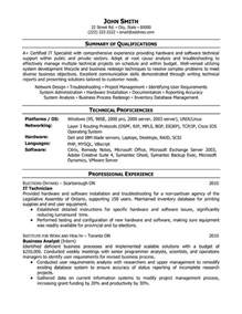 it technician resume sle template