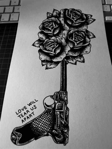 tattoo flower gun gun flower tattoo tattoos pinterest it is guns and