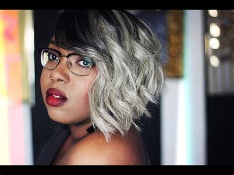 gray hairstyles youtube fifty shades of grey black and grey asymmetric bob
