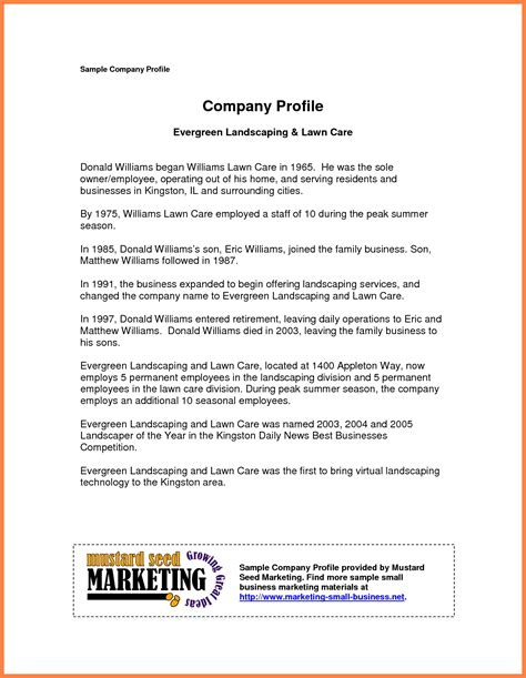 free business profile template 9 company business profile sle company letterhead