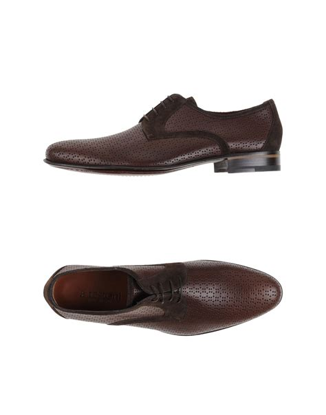 a testoni shoes a testoni lace up shoes in brown for lyst