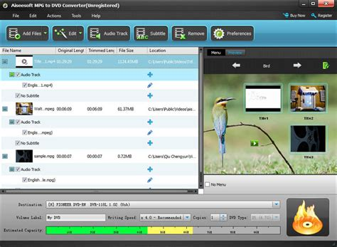 converter to mpg burn mpg video to dvd with mpg to dvd converter