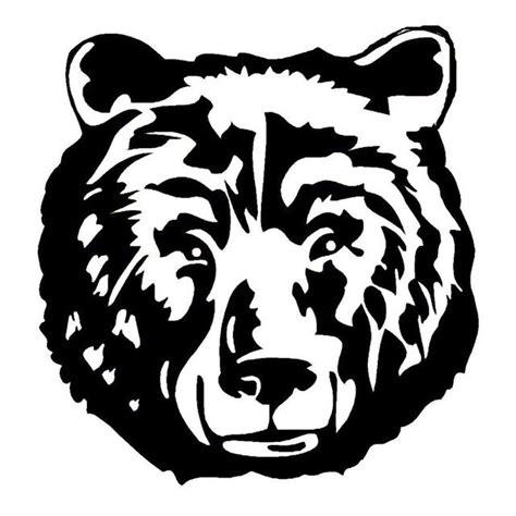 image result  black  white bear head stencil bear