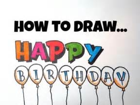 how to draw happy birthday letters