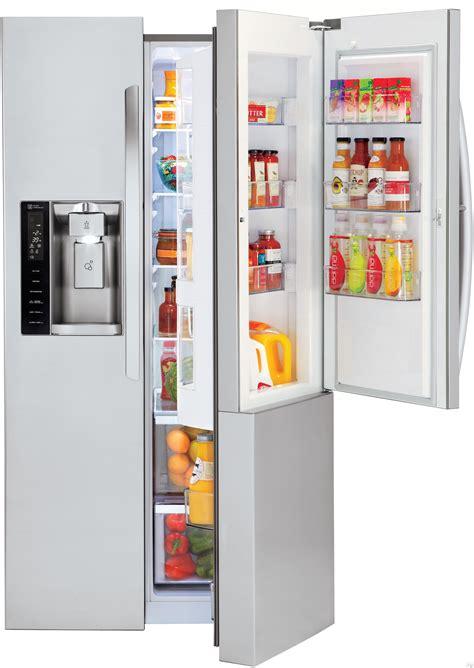 Lg Fridge Door Shelf by Lg Lsxs26366s 26 Cu Ft Side By Side Refrigerator With