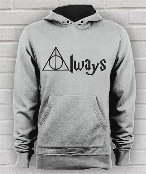 Hogwarts Harry Potter Custom Kaos Unisex always harry potter quote unisex hoodie