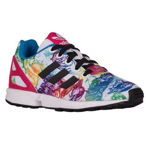 Adidas Grade Ori original adidas originals zx flux grade school casual running shoes white black bold pink