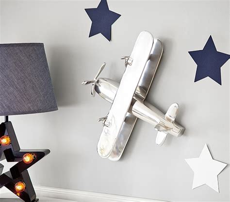 Polished Nickel Airplane Decor Pottery Barn Kids