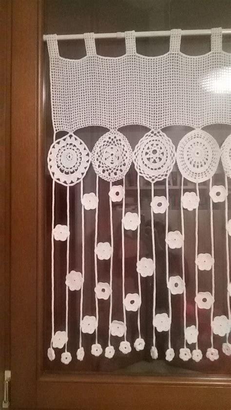 cortina tejida mutfak perdesi cortinas tejidas  crochet ganchillo cortinas artesanales