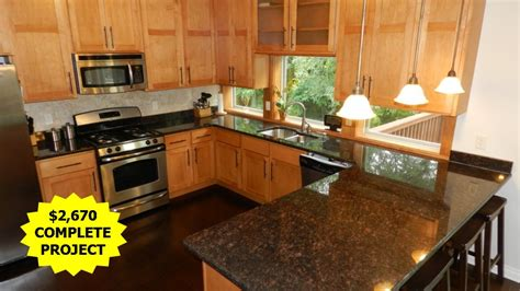 sapphire blue granite with maple cabinets and floors
