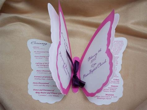 quinceanera ideas wedding invitation butterfly quince