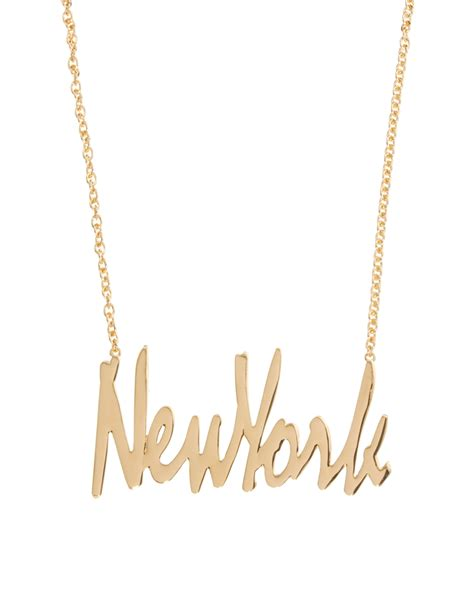 puma asos new york necklace in metallic lyst