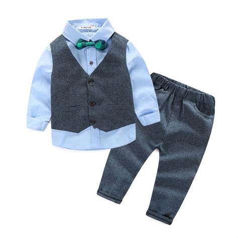 camisas para nino con corbata traje ni 241 os pantalon camisa chaleco mo 241 o color azul y vino