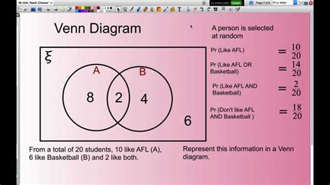 venn diagram probability calculating probability using venn diagrams